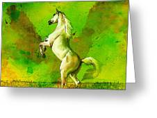 Horse Paintings 010 Greeting Card