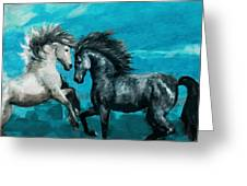Horse Paintings 011 Greeting Card