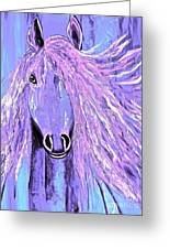 Horse Pale Purple 2 Greeting Card