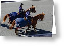 Horse Police Greeting Card