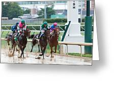 Horse Races At Churchill Downs Greeting Card
