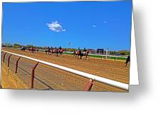 Horse Races Greeting Card