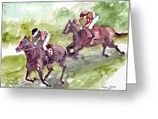 Horse Racing Greeting Card