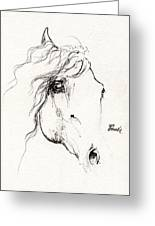 Horse Sketch 2014 05 24a Greeting Card