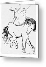 Horse Sketch Greeting Card