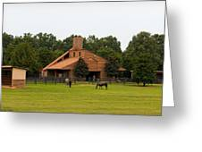 Horse Stables 2 Greeting Card