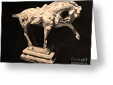 Horse Statuette Greeting Card