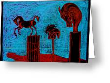 Horse Totems Greeting Card