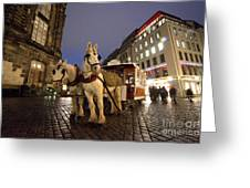Horse Tram Greeting Card