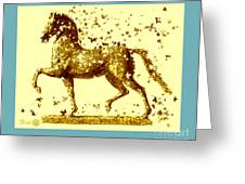 Horse Trotting  Greeting Card