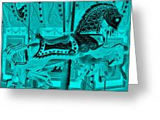 Turquoise Horse E Greeting Card