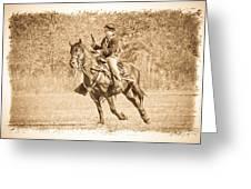Horseback Soldier Greeting Card