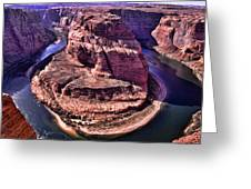 Horsehoe Bend On The Colorado River Greeting Card