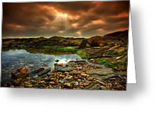 Horseley Cove Rockpool Greeting Card by Mark Leader