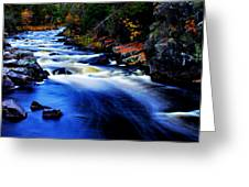 Horserace Rapids In Autumn Greeting Card