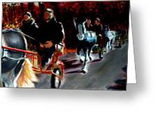 Horses And Carriages Greeting Card