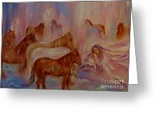 Horses In Heaven Greeting Card