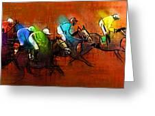 Horses Racing 01 Greeting Card
