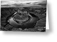 Horseshoe Bend Arizona Monochrome Greeting Card