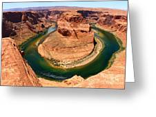Horseshoe Bend - Nature's Awesome Work Greeting Card