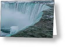Horseshoe Falls Ice Formations Greeting Card