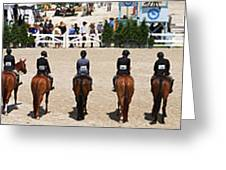 Horseshow Pano Greeting Card