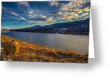 Horsetooth Reservoir Late Afternoon Greeting Card
