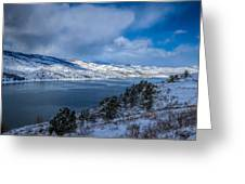 Horsetooth Reservoir Looking North Greeting Card