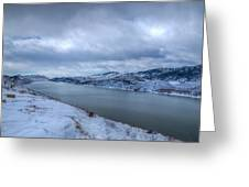 Horsetooth Reservoir Looking South Greeting Card by Harry Strharsky