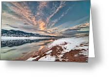 Horsetooth Sunset Hdr Greeting Card