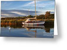 Horsey Mere In Evening Light Greeting Card