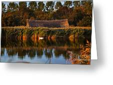 Horsey Mere On The Norfolk Broads On A Still Day In Autumn Greeting Card