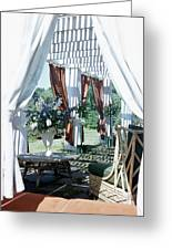 Horst's Patio In Long Island Greeting Card