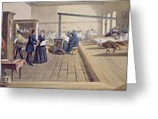 Hospital At Scutari, Detail Of Florence Greeting Card by William 'Crimea' Simpson
