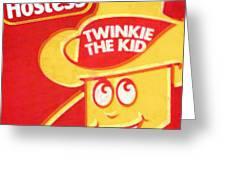 Hostess Twinkie The Kid Greeting Card by Tony Rubino