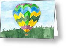 Hot Air Balloon 01 Greeting Card