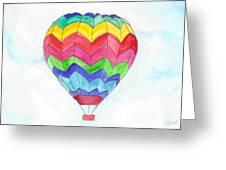 Hot Air Balloon 02 Greeting Card