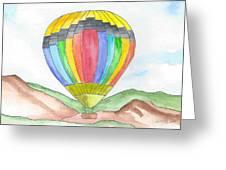 Hot Air Balloon 03 Greeting Card