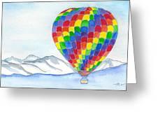 Hot Air Balloon 04 Greeting Card