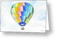 Hot Air Balloon 08 Greeting Card