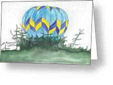 Hot Air Balloon 09 Greeting Card