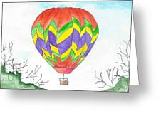 Hot Air Balloon 10 Greeting Card