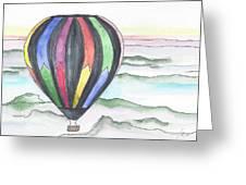 Hot Air Balloon 12 Greeting Card