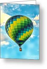 Hot Air Balloon Checkerboard Greeting Card
