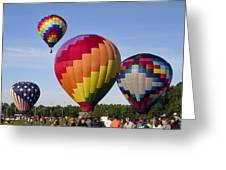 Hot Air Balloon Festival In Decatur Alabama  Greeting Card