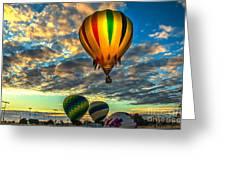 Hot Air Balloon Lift Off Greeting Card