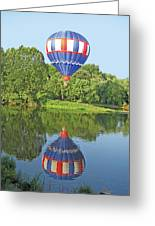 Hot Air Balloon Reflection Greeting Card