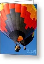 Hot Air Ballooning Greeting Card by Edward Fielding