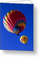 Hot Air Ballooning Together Greeting Card