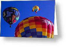 Hot Air Balloons Launch Greeting Card